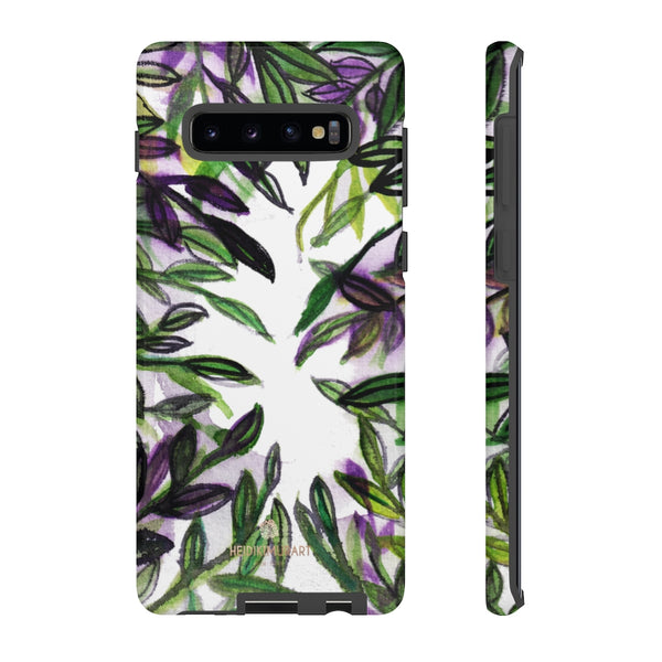 Tropical Leave Print Tough Cases, Designer Phone Case-Made in USA-Phone Case-Printify-Samsung Galaxy S10 Plus-Glossy-Heidi Kimura Art LLC