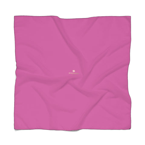 "Hot Pink Designer Poly Scarf, Solid Color Lightweight Fashion Accessories- Made in USA-Accessories-Printify-Poly Voile-25 x 25 in-Heidi Kimura Art LLC Hot Pink Poly Scarf, Classic Solid Color Print Lightweight Delicate Sheer Poly Voile or Poly Chiffon 25""x25"" or 50""x50"" Luxury Designer Fashion Accessories- Made in USA, Fashion Sheer Soft Light Polyester Square Scarf"