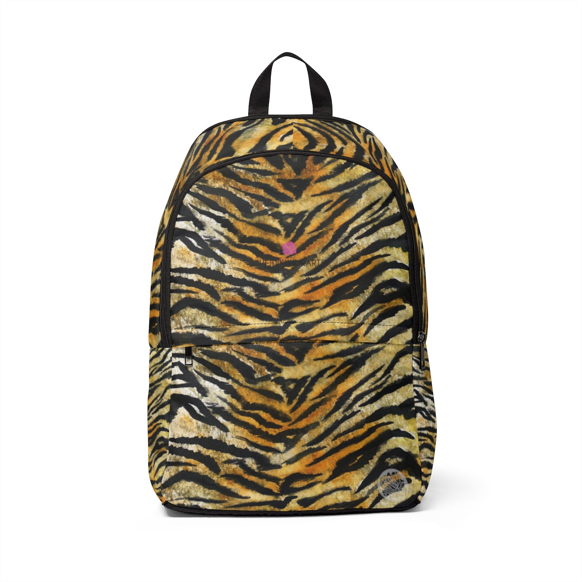 Brown Tiger Stripe Animal Skin Unisex Large Size Waterproof Fabric Designer Backpack-Backpack-One Size-Heidi Kimura Art LLC Brown Tiger Stripe Backpack, Brown Tiger Stripe Animal Skin Unisex Large Size Waterproof Fabric Designer Back to School or Work Backpack