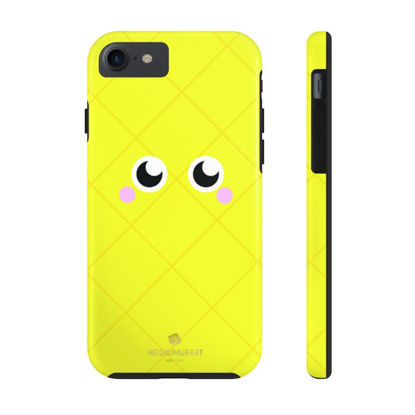 Yellow Pineapple Fruit Face Print Designer Case Mate Tough Phone Case-Made in USA - Heidikimurart Limited
