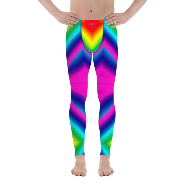 Colorful Rainbow Meggings, Colorful Bright Rainbow Ombre Print Gay Pride Print Sexy Meggings Men's Workout Gym Tights Leggings, Men's Performance Leggings, Compression Tights Pants - Made in USA/ EU (US Size: XS-3XL) Mens Pattern Tights, Mens Casual Leggings, Mens Fitness Compression Pants Sports Running Tights, Gay Pride Leggings, Rainbow Pride Pants, Cute Rainbow Ombre Leggings, Pride Pants, Rainbow Leggings, Gay Pride & Rainbows, Pride Clothing, Pride Leggings Plus Size