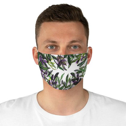 "Tropical Leaf Print Face Mask, Adult Designer Premium Fabric Face Mask-Made in USA-Accessories-Printify-One size-Heidi Kimura Art LLC Tropical Leaf Print Face Mask, Floral Haiwaiian Style Adult Modern Face Mask For Vegan Lovers, Fashion Face Mask For Men/ Women, Designer Premium Quality Modern Polyester Fashion 7.25"" x 4.63"" Fabric Non-Medical Reusable Washable Chic One-Size Face Mask With 2 Layers For Adults With Elastic Loops-Made in USA"