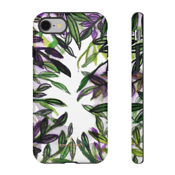 Tropical Leave Print Tough Cases, Designer Phone Case-Made in USA-Phone Case-Printify-iPhone 8-Glossy-Heidi Kimura Art LLC
