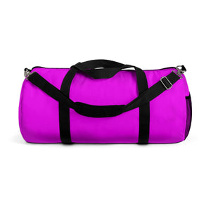 Solid Pink Color All Day Small Or Large Size Duffel Bag, Made in USA-Duffel Bag-Small-Heidi Kimura Art LLC