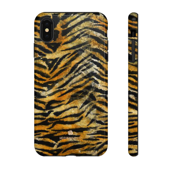 Orange Tiger Striped Phone Case, Animal Print Tough Cases, Designer Phone Case-Made in USA-Phone Case-Printify-iPhone XS MAX-Glossy-Heidi Kimura Art LLC