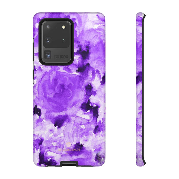 Purple Floral Rose Phone Case, Roses Floral Print Tough Designer Phone Case -Made in USA-Phone Case-Printify-Samsung Galaxy S20 Ultra-Glossy-Heidi Kimura Art LLC