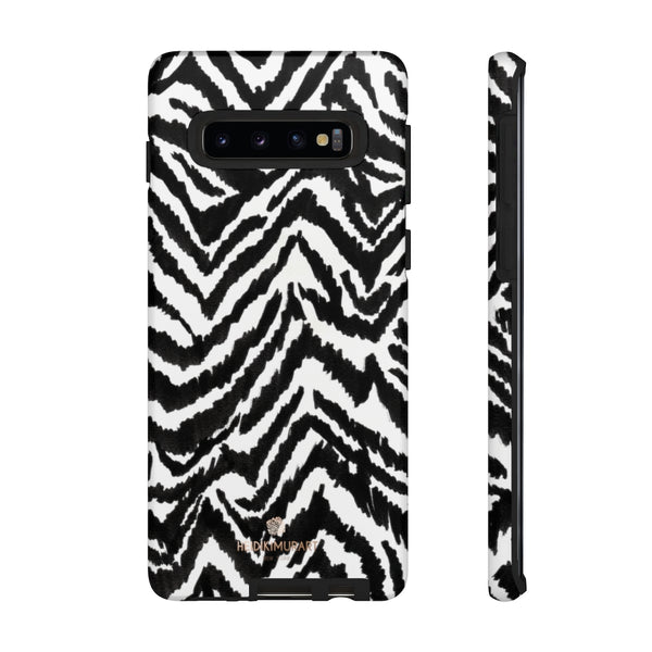 White Tiger Stripe Phone Case, Animal Print Best Tough Designer Phone Case -Made in USA-Phone Case-Printify-Samsung Galaxy S10-Matte-Heidi Kimura Art LLC