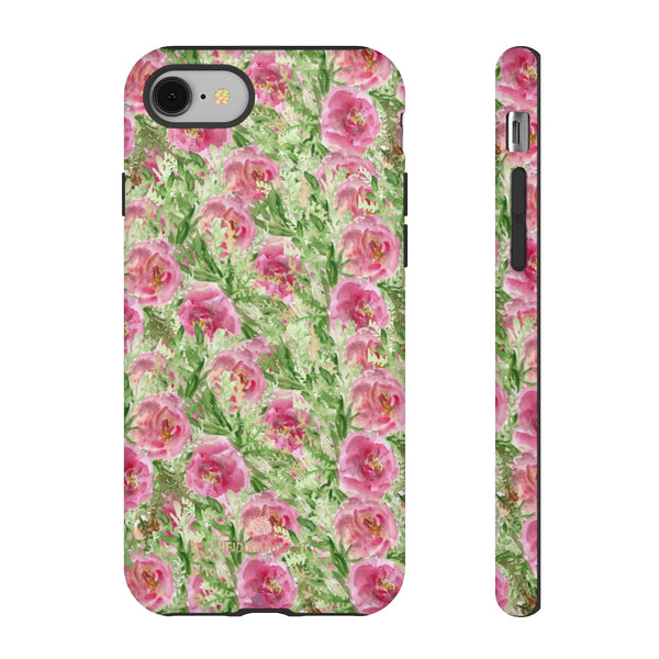 Garden Rose Phone Case, Roses Floral Print Tough Designer Phone Case -Made in USA-Phone Case-Printify-iPhone 8-Glossy-Heidi Kimura Art LLC