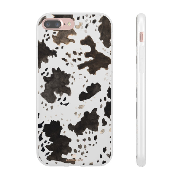 Cow Print Slim Flexible Wireless Charging Friendly iPhone Samsung Flexi Phone Cases-Phone Case-iPhone 7 Plus-Heidi Kimura Art LLC