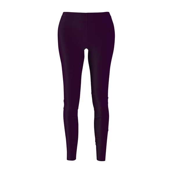 Royal Purple Classic Solid Color Women's Long Skinny Fit Fashion Leggings - Made in USA-Casual Leggings-M-Heidi Kimura Art LLC