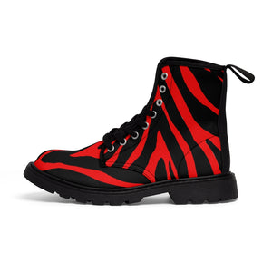 Red Zebra Men's Boots, Best Hiking Winter Boots Laced Up Shoes For Men