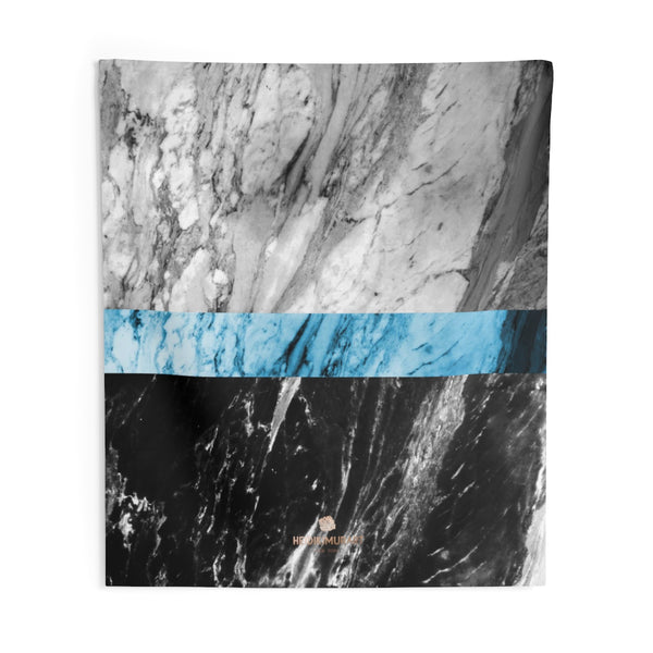 Copy of Grey Black Marble Print Designer Indoor Wall Tapestries- Made in USA-Home Decor-88x104-Heidi Kimura Art LLC