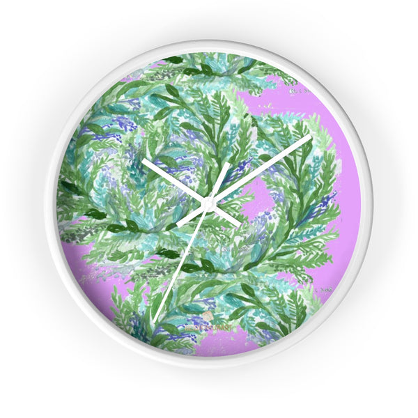 Girlie Soft Purple Pink French Lavender Indoor 10 in. Dia. Wall Clock - Made in USA-Wall Clock-10 in-White-White-Heidi Kimura Art LLC