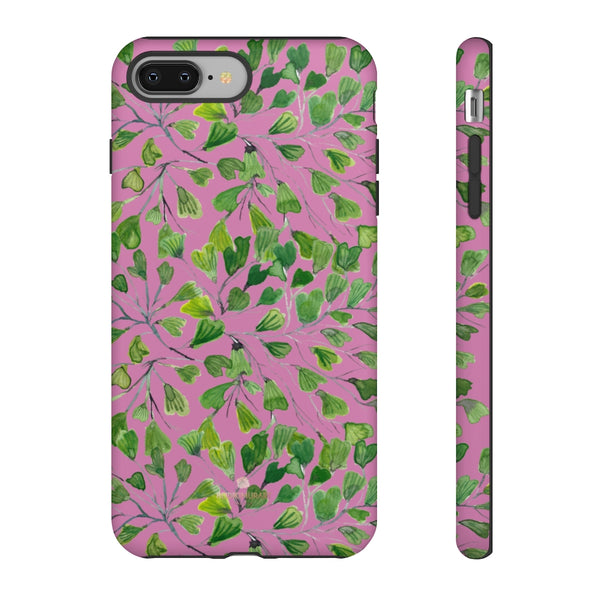 Blue Maidenhair Fern Tough Cases, Green Leaf Print Phone Case-Made in USA-Phone Case-Printify-iPhone 8 Plus-Matte-Heidi Kimura Art LLC