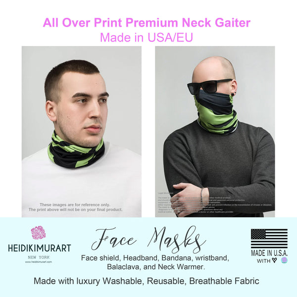 Fall Tropical Print Neck Gaiter, Unisex Bandana, Face Covering Shield Mask-Made in USA/EU-Neck Gaiter-Printful-Heidi Kimura Art LLC