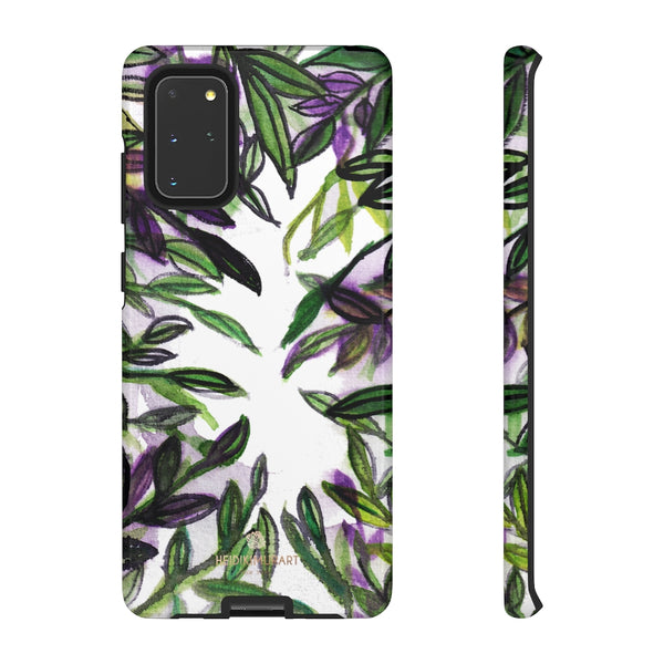 Tropical Leave Print Tough Cases, Designer Phone Case-Made in USA-Phone Case-Printify-Samsung Galaxy S20+-Glossy-Heidi Kimura Art LLC