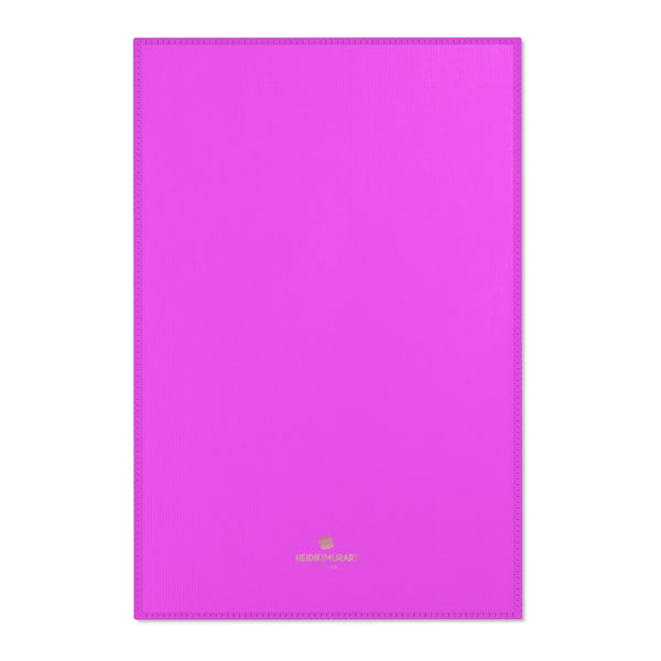 "Hot Pink Solid Color Designer 24x36, 36x60, 48x72 inches Area Rugs- Printed in the USA-Area Rug-24"" x 36""-Heidi Kimura Art LLC"