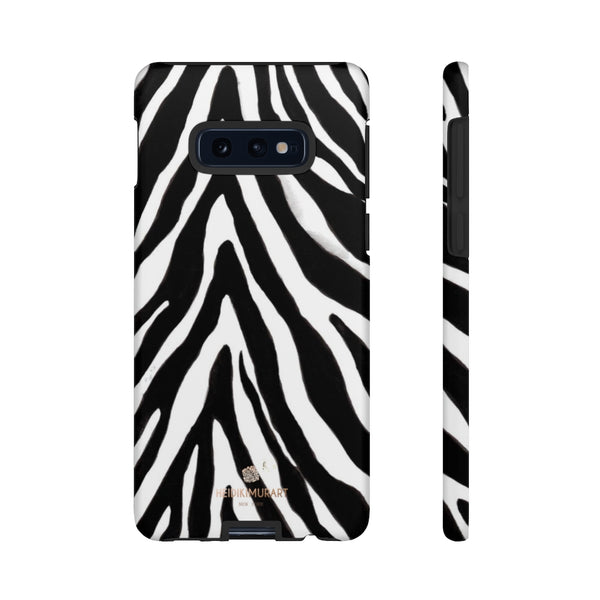 Zebra Stripe Phone Case, Animal Print Tough Designer Phone Case -Made in USA-Phone Case-Printify-Samsung Galaxy S10E-Matte-Heidi Kimura Art LLC