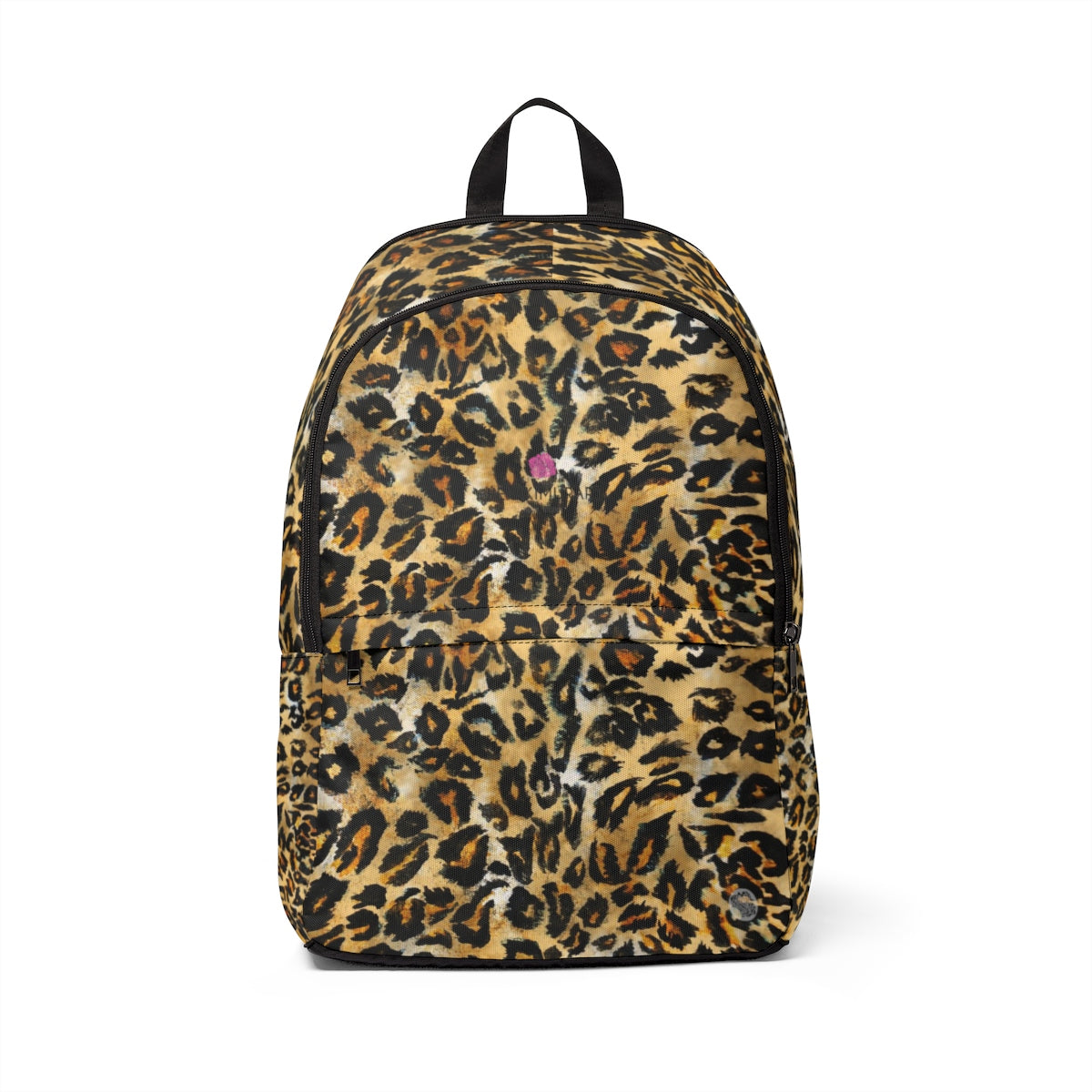 Leopard Animal Skin Faux Fur Print Unisex Large Size Fabric Designer Backpack Bag-Backpack-One Size-Heidi Kimura Art LLC