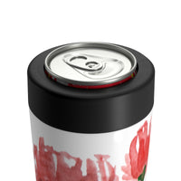 Red Poppy Flower Floral Print Cute Can Holder - Heidi Kimura Art LLC