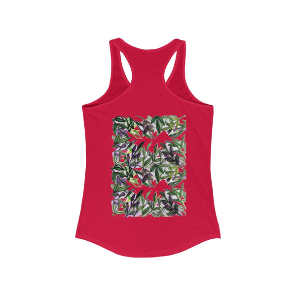 Tropical Leaves Vacation Floral Women's Ideal Racerback Tank - Made in the U.S.A.-Tank Top-Heidi Kimura Art LLC