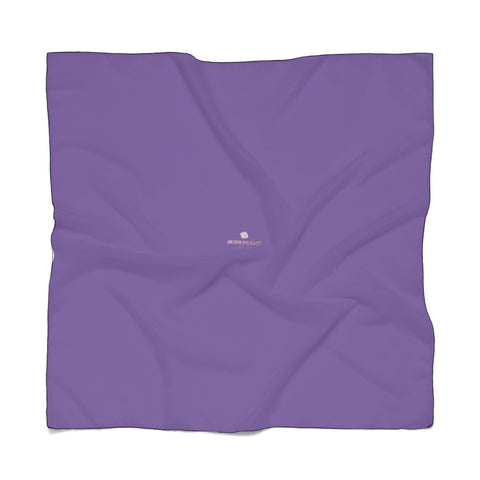 "Royal Purple Designer Poly Scarf, Solid Color Lightweight Fashion Accessories- Made in USA-Accessories-Printify-Poly Voile-25 x 25 in-Heidi Kimura Art LLC Royal Purple Designer Poly Scarf, Classic Solid Color Print Lightweight Delicate Sheer Poly Voile or Poly Chiffon 25""x25"" or 50""x50"" Luxury Designer Fashion Accessories- Made in USA, Fashion Sheer Soft Light Polyester Square Scarf"