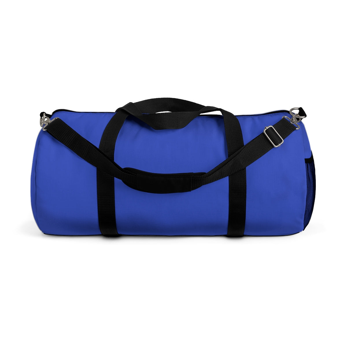 Violet Blue Solid Color All Day Small Or Large Size Duffel Bag, Made in USA-Duffel Bag-Small-Heidi Kimura Art LLC