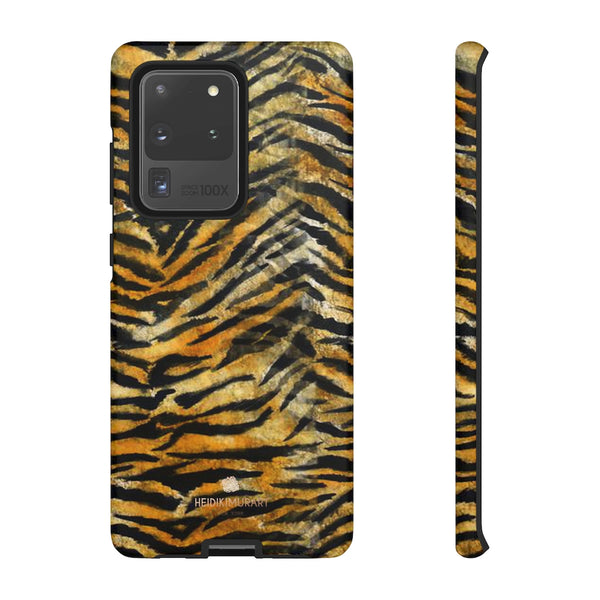 Orange Tiger Striped Phone Case, Animal Print Tough Cases, Designer Phone Case-Made in USA-Phone Case-Printify-Samsung Galaxy S20 Ultra-Matte-Heidi Kimura Art LLC