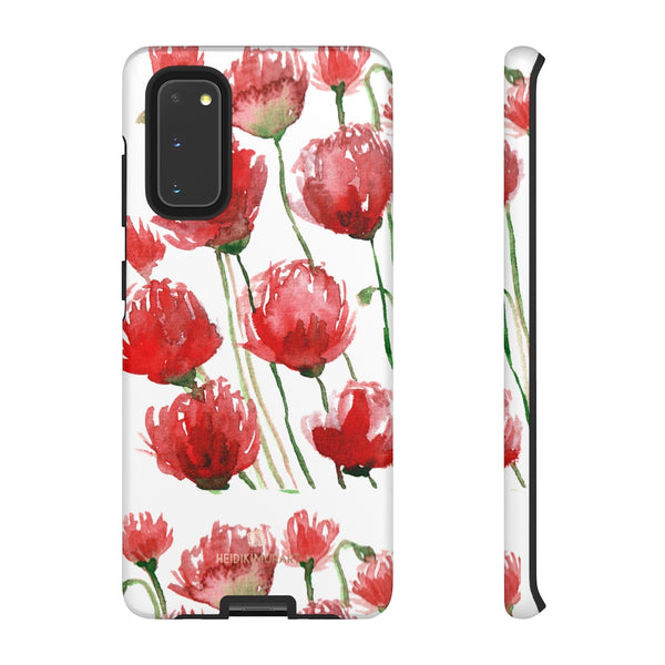 Red Tulips Floral Tough Cases, Roses Flower Print Best Designer Phone Case-Made in USA-Phone Case-Printify-Samsung Galaxy S20-Matte-Heidi Kimura Art LLC