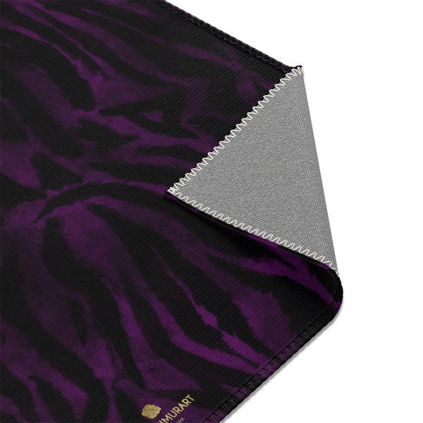 Purple Black Tiger Stripe Print Designer 24x36, 36x60, 48x72 inches Area Rugs - Printed in USA-Area Rug-Heidi Kimura Art LLC
