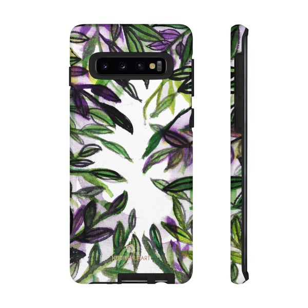 Tropical Leave Print Tough Cases, Designer Phone Case-Made in USA-Phone Case-Printify-Samsung Galaxy S10-Glossy-Heidi Kimura Art LLC