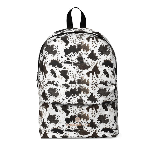 Cow Print Animal Faux Fur Pattern Soft Nylon Lightweight Waterproof Classic Backpack-Backpack-One Size-Heidi Kimura Art LLC