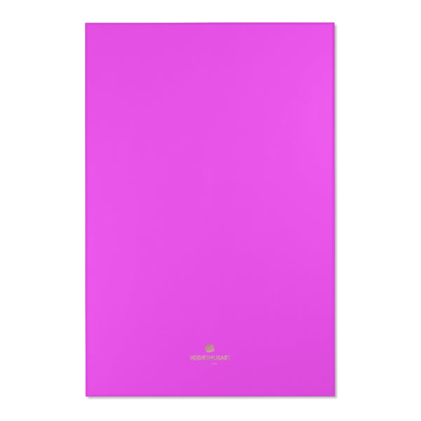 "Hot Pink Solid Color Designer 24x36, 36x60, 48x72 inches Area Rugs- Printed in the USA-Area Rug-48"" x 72""-Heidi Kimura Art LLC"