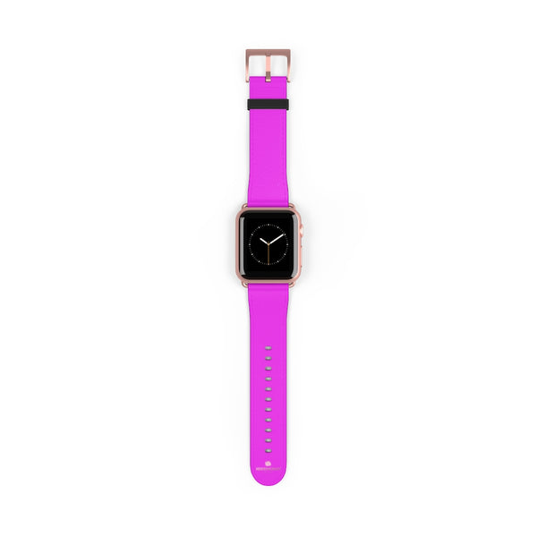 Hot Pink Solid Color Solid Color 38mm/42mm Watch Band For Apple Watches- Made in USA-Watch Band-38 mm-Rose Gold Matte-Heidi Kimura Art LLC