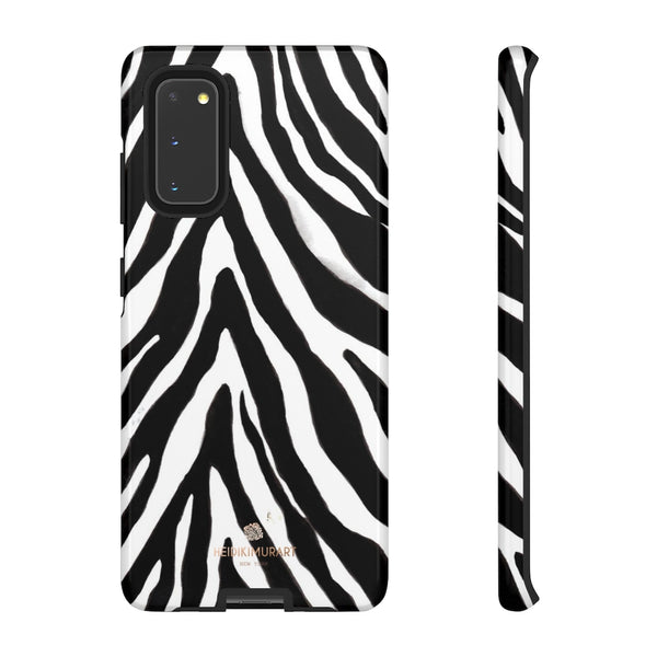 Zebra Stripe Phone Case, Animal Print Tough Designer Phone Case -Made in USA-Phone Case-Printify-Samsung Galaxy S20-Glossy-Heidi Kimura Art LLC
