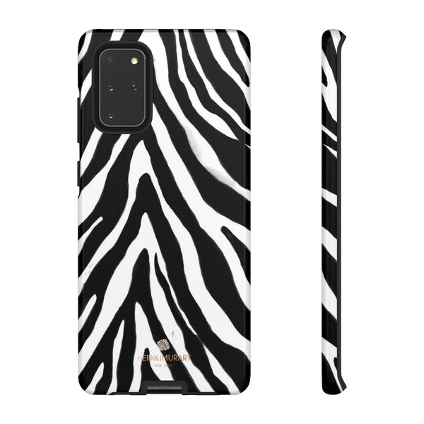 Zebra Stripe Phone Case, Animal Print Tough Designer Phone Case -Made in USA-Phone Case-Printify-Samsung Galaxy S20+-Glossy-Heidi Kimura Art LLC