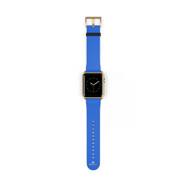 Blue Solid Color 38mm/42mm Watch Band Strap For Apple Watches- Made in USA-Watch Band-42 mm-Gold Matte-Heidi Kimura Art LLC
