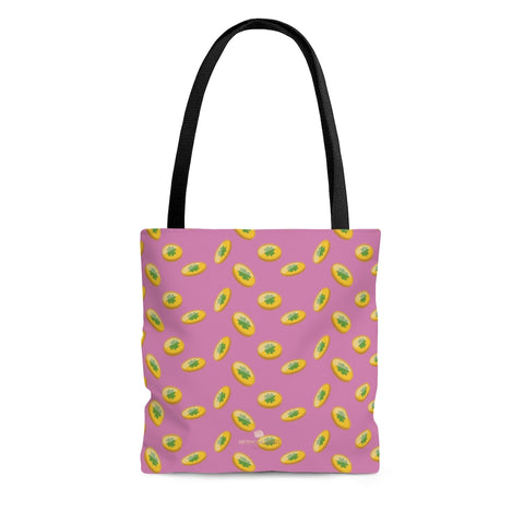 Light Pink Gold Coins Lucky Irish Green Clover Leaf Shamrock Print Tote Bag- Made in USA-Tote Bag-Large-Heidi Kimura Art LLC