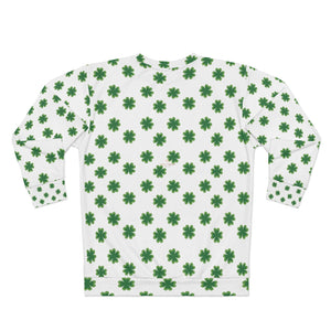 St. Patrick's Day Green Clover Print Unisex Sweatshirt Couples Tops Outfit - Made in USA-Unisex Sweatshirt-2XL-Heidi Kimura Art LLC