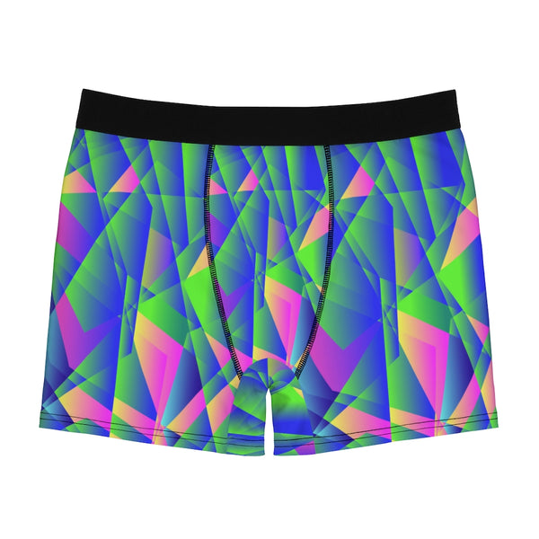 Diamond Print Men's Boxer Briefs, Elastic Modern Designer Best Sexy Underwear For Men-All Over Prints-Printify-Heidi Kimura Art LLC