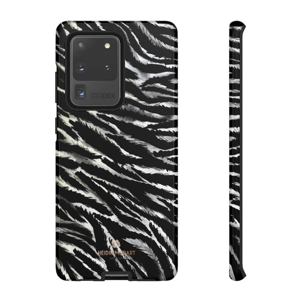 White Tiger Stripe Phone Case, Animal Print Tough Designer Phone Case -Made in USA-Phone Case-Printify-Samsung Galaxy S20 Ultra-Glossy-Heidi Kimura Art LLC