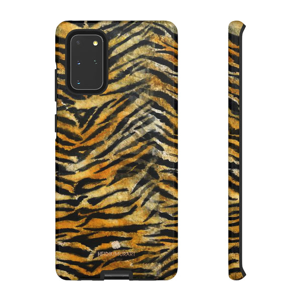 Orange Tiger Striped Phone Case, Animal Print Tough Cases, Designer Phone Case-Made in USA-Phone Case-Printify-Samsung Galaxy S20+-Glossy-Heidi Kimura Art LLC