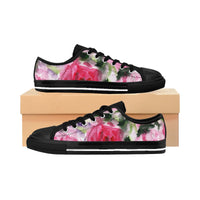 Mirai Future Rose Print Designer Women's Low Top Sneakers Running Shoes (US Size 6-12) - Heidi Kimura Art LLC