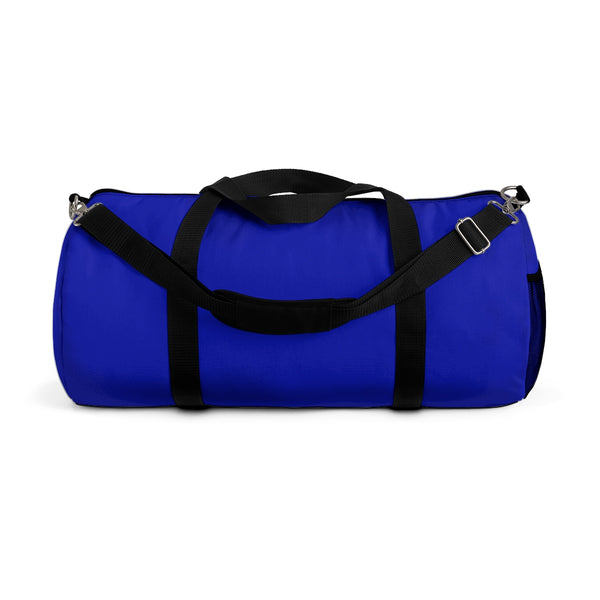 Blue Solid Color All Day Small Or Large Size Duffel Gym Bag, Made in USA-Duffel Bag-Small-Heidi Kimura Art LLC