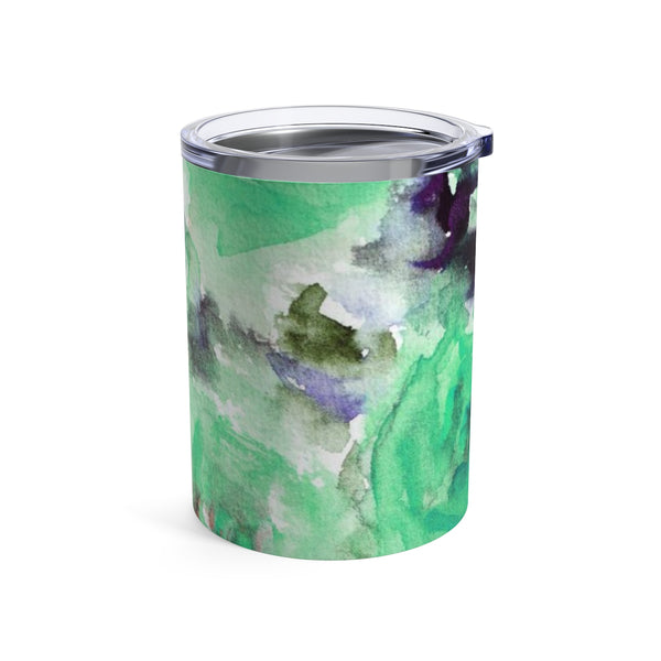 Original Blue Rose Floral Print Stainless Steel Premium Tumbler 10 oz - Made in USA-Mug-10oz-Heidi Kimura Art LLC