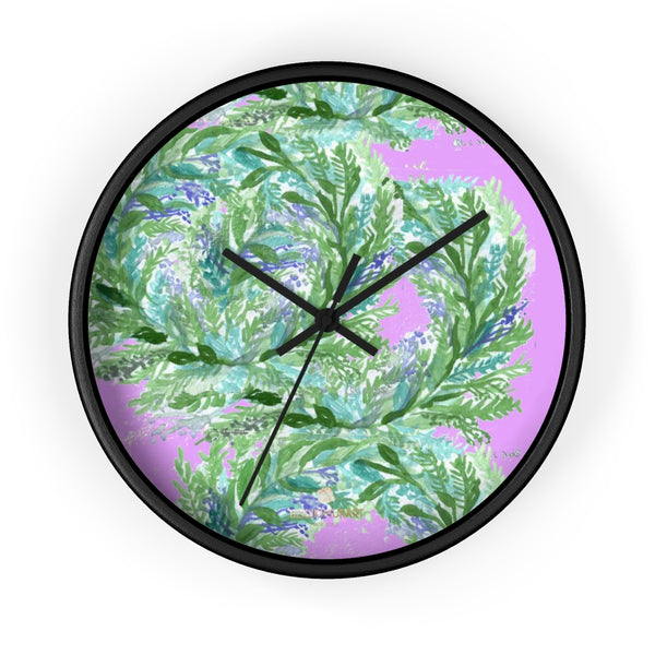Girlie Soft Purple Pink French Lavender Indoor 10 in. Dia. Wall Clock - Made in USA-Wall Clock-10 in-Black-Black-Heidi Kimura Art LLC