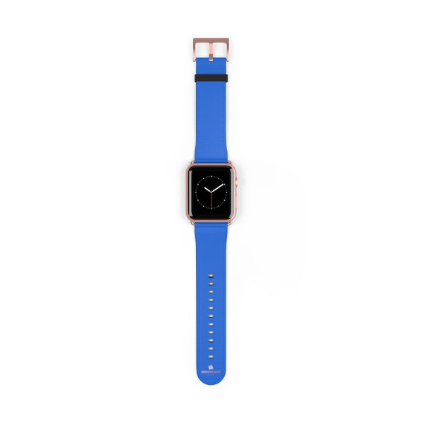 Blue Solid Color 38mm/42mm Watch Band Strap For Apple Watches- Made in USA-Watch Band-42 mm-Rose Gold Matte-Heidi Kimura Art LLC