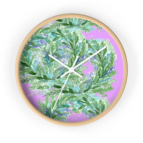 Girlie Soft Purple Pink French Lavender Indoor 10 in. Dia. Wall Clock - Made in USA-Wall Clock-10 in-Wooden-White-Heidi Kimura Art LLC