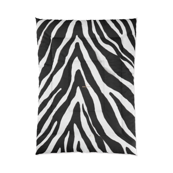 Zebra Animal Print Comforter Blanket for Queen/Full/Twin/King Size Bed-Made in USA-Comforter-68x92 (Full Size)-Heidi Kimura Art LLC