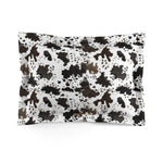 Cow Print Lightweight Woven Microfiber Pillow Sham, Standard/King Size, Made in USA (Sizes: King/Standard) - Heidi Kimura Art LLC